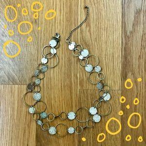 White House Black Market Gold Circle Necklace